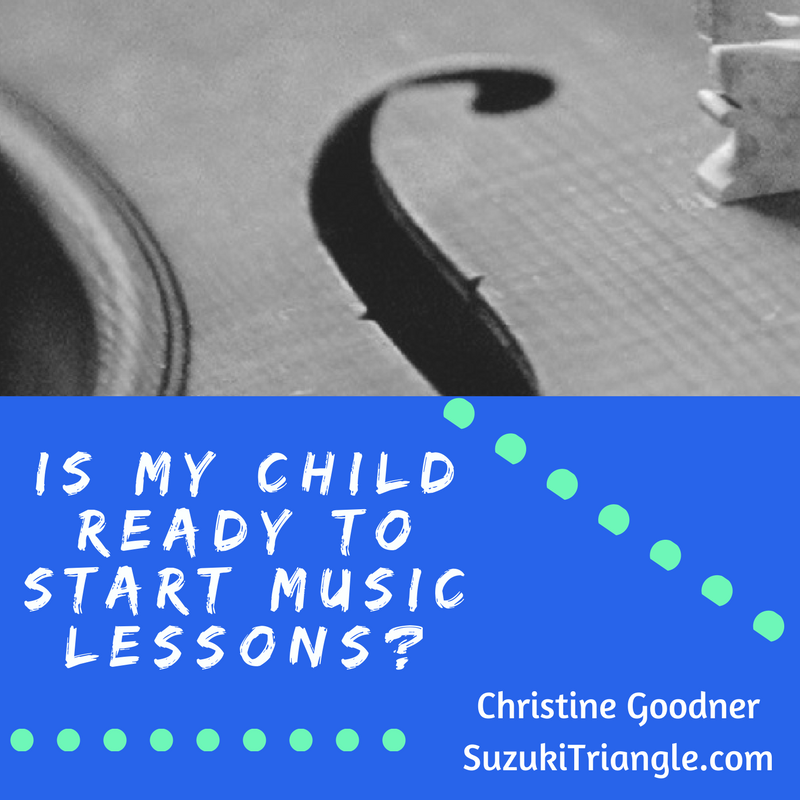 Is my Child Ready to start Lessons?