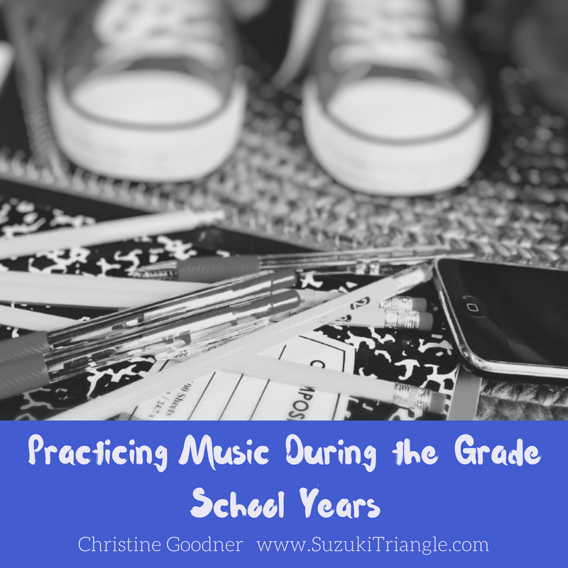 Practicing Music with Grade School Child